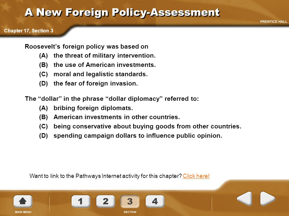 A New Foreign Policy-Assessment