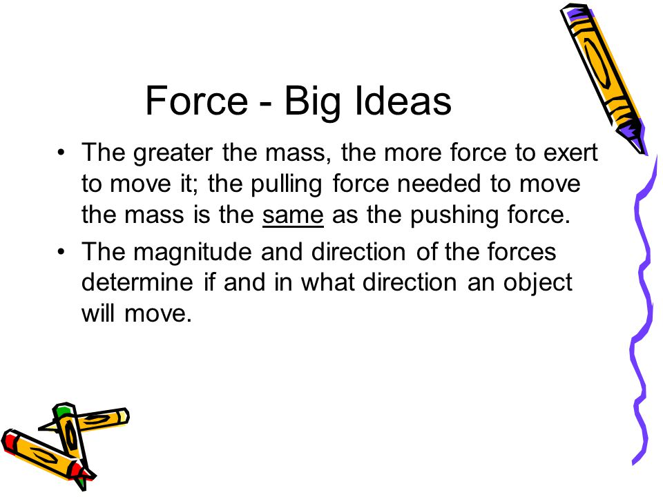 Force - Big Ideas