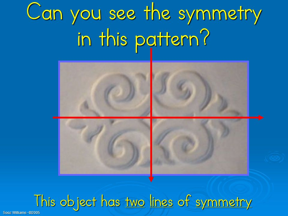 Can you see the symmetry in this pattern
