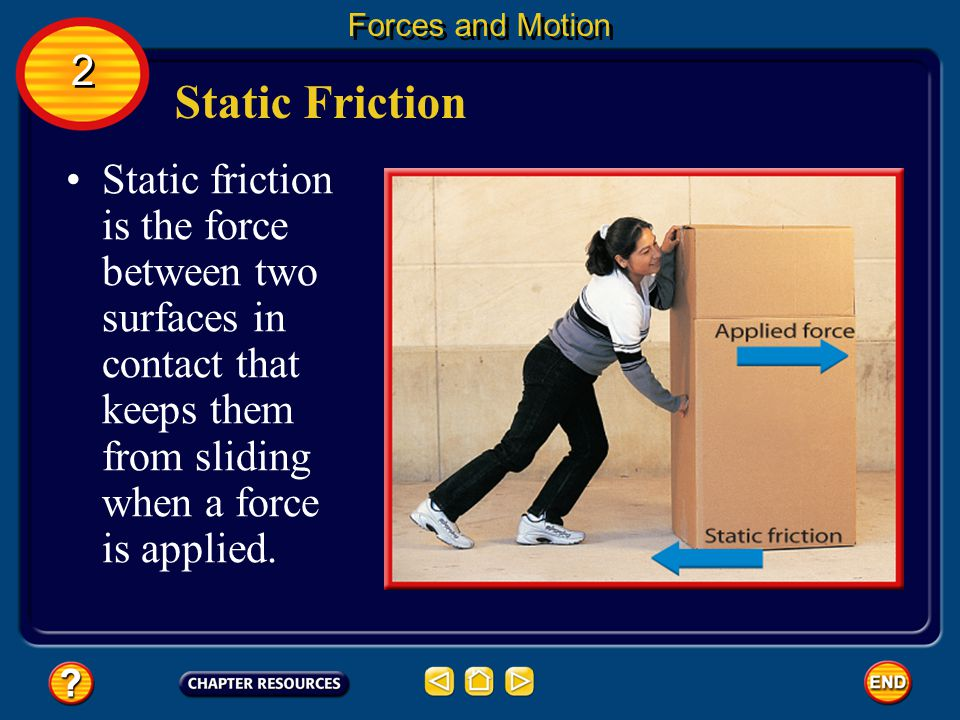 Forces and Motion 2. Static Friction.
