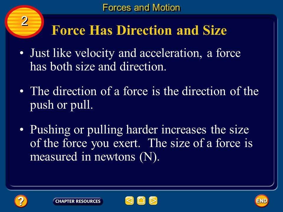 Force Has Direction and Size