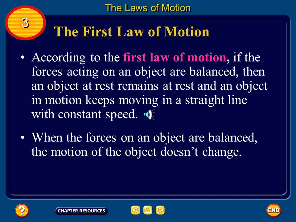 The Laws of Motion 3. The First Law of Motion.