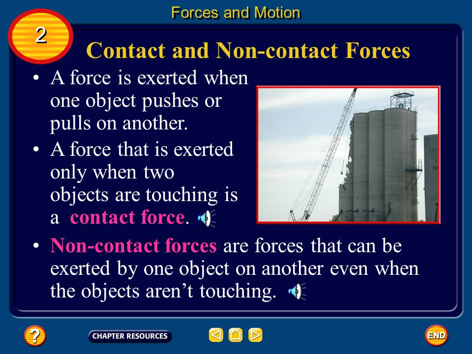 Contact and Non-contact Forces