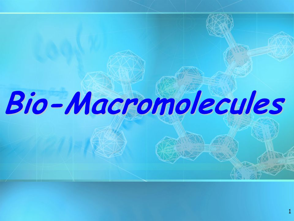 Bio-Macromolecules