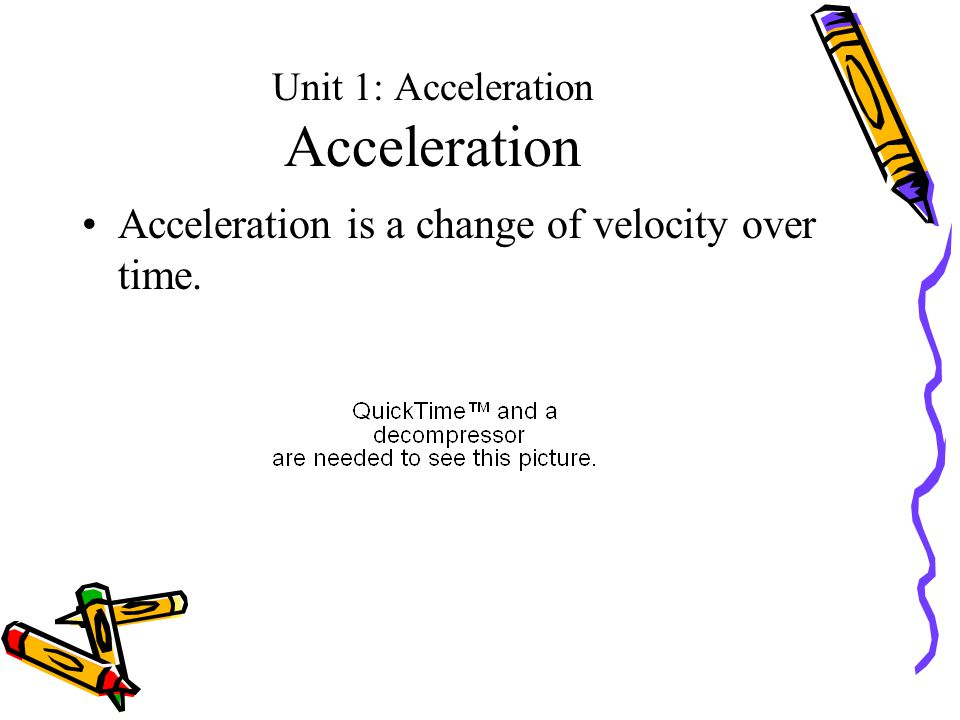 Unit 1: Acceleration Acceleration