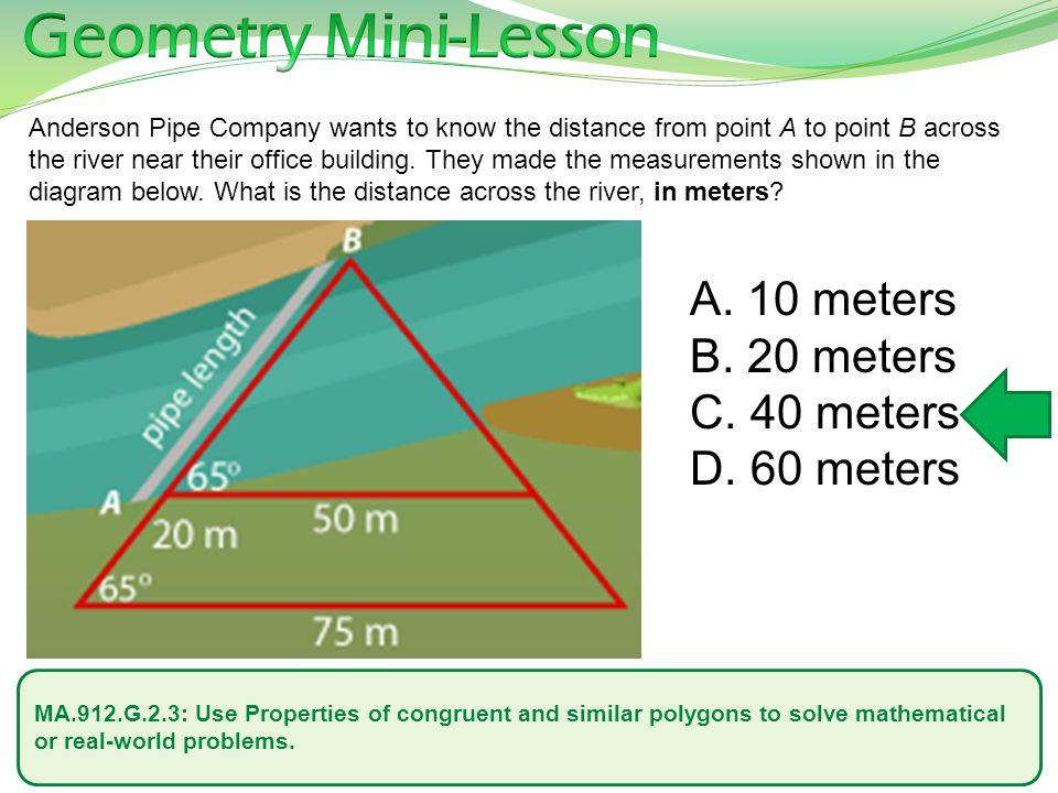 Geometry Mini-Lesson 10 meters 20 meters 40 meters 60 meters