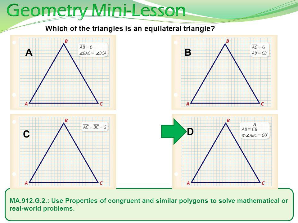 Geometry Mini-Lesson A B D C