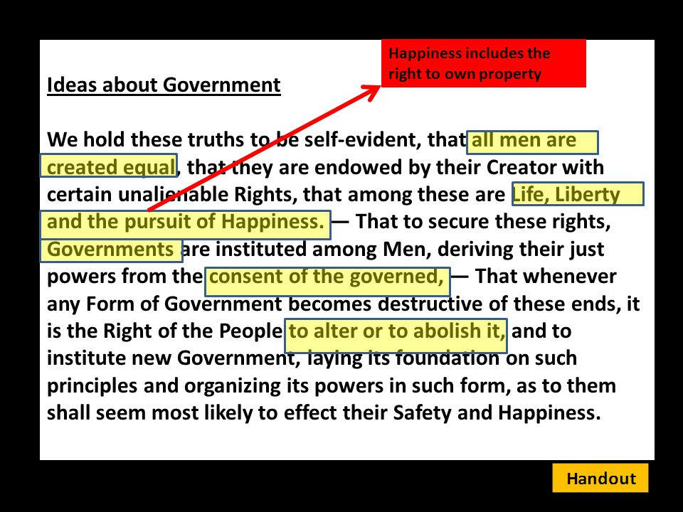 Ideas about Government