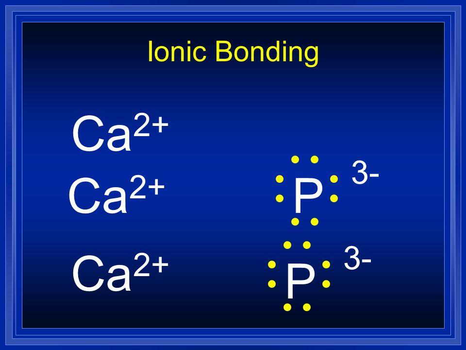 Ionic Bonding Ca2+ Ca2+ P 3- Ca2+ P 3-