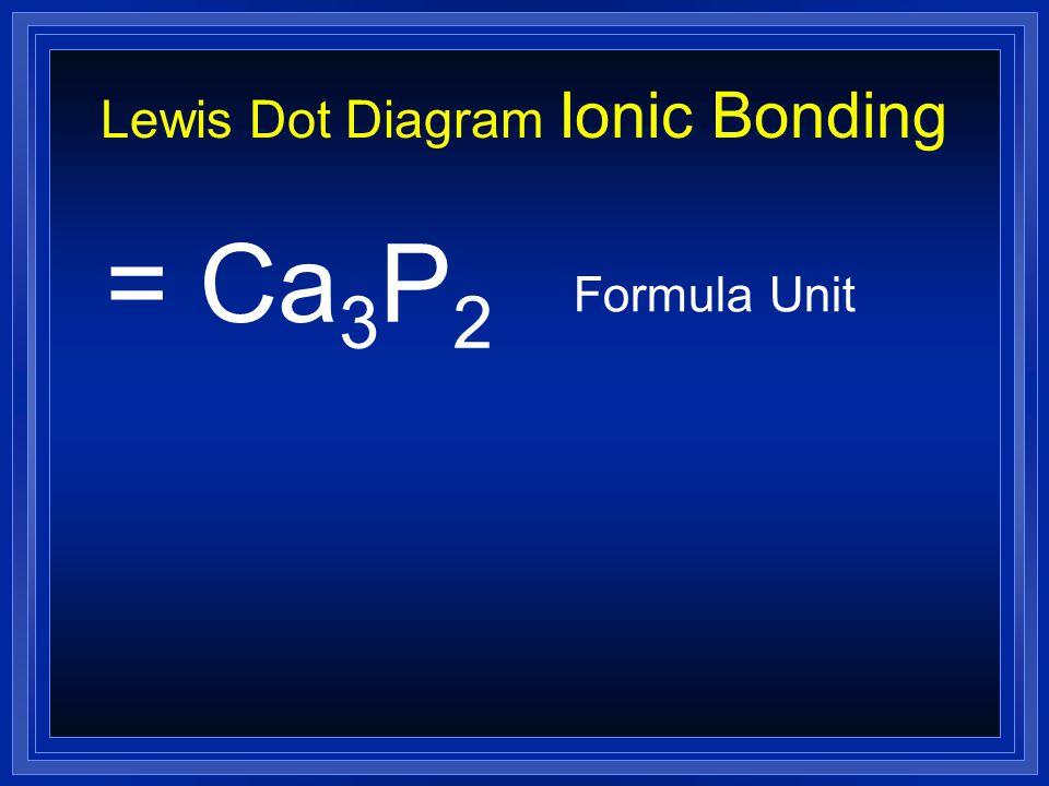 Lewis Dot Diagram Ionic Bonding