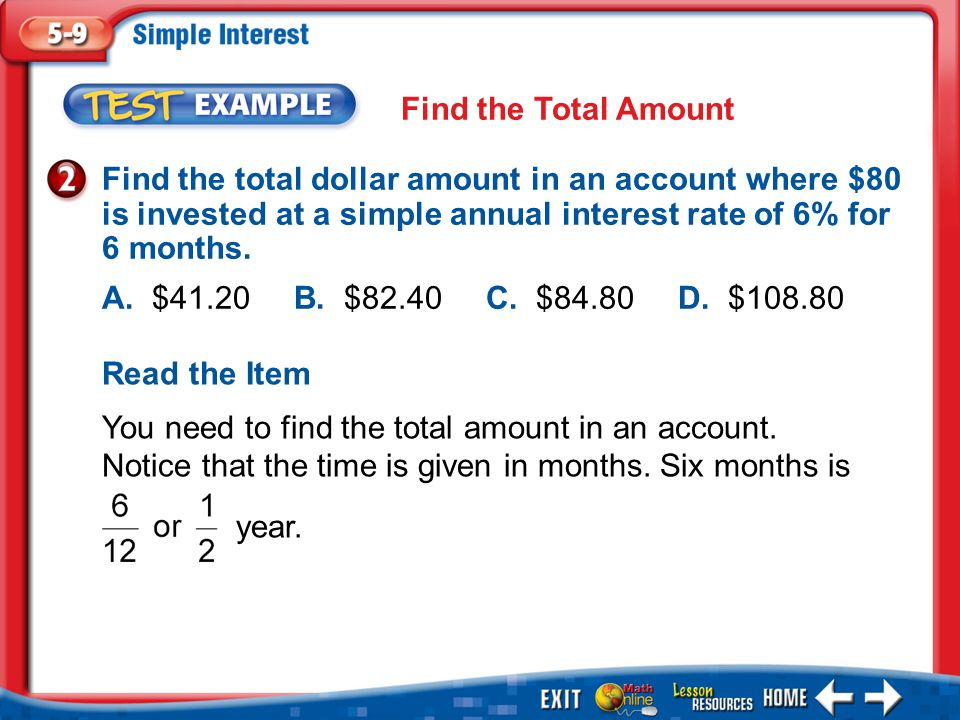 year. Find the Total Amount