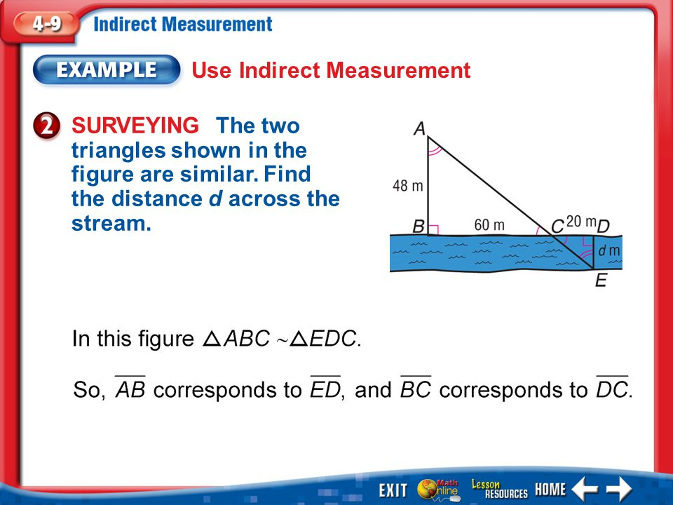 Use Indirect Measurement