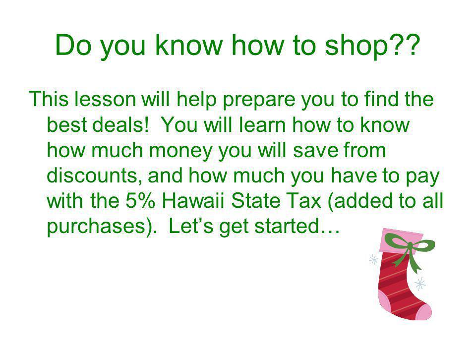 Do you know how to shop