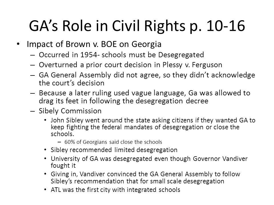 GA's Role in Civil Rights p. 10-16