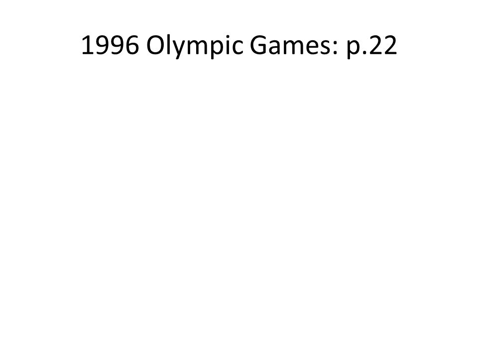 1996 Olympic Games: p.22