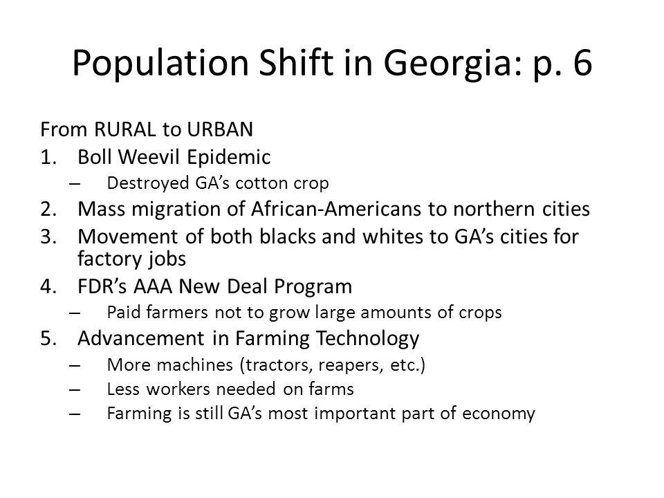 Population Shift in Georgia: p. 6