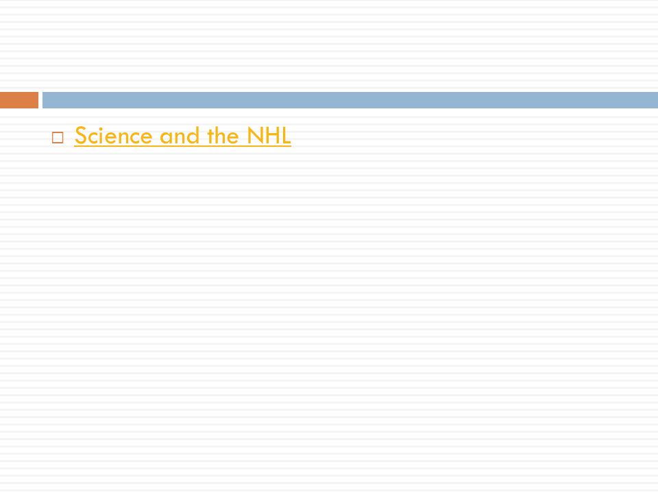 Science and the NHL