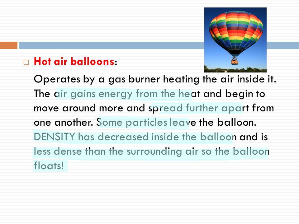 Hot air balloons: