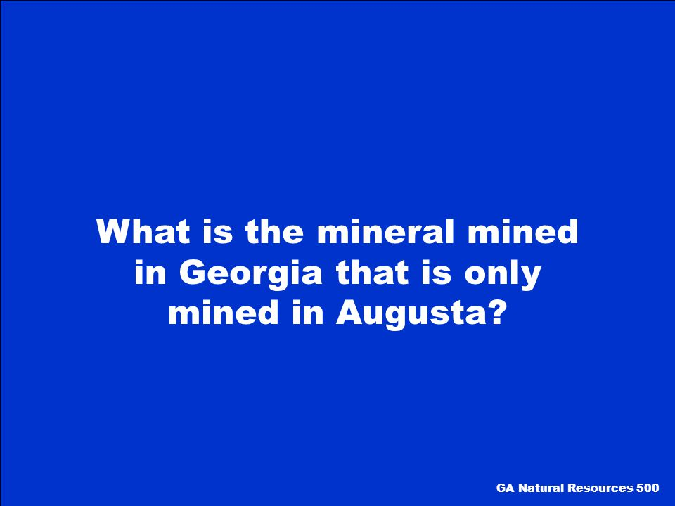 What is the mineral mined in Georgia that is only mined in Augusta