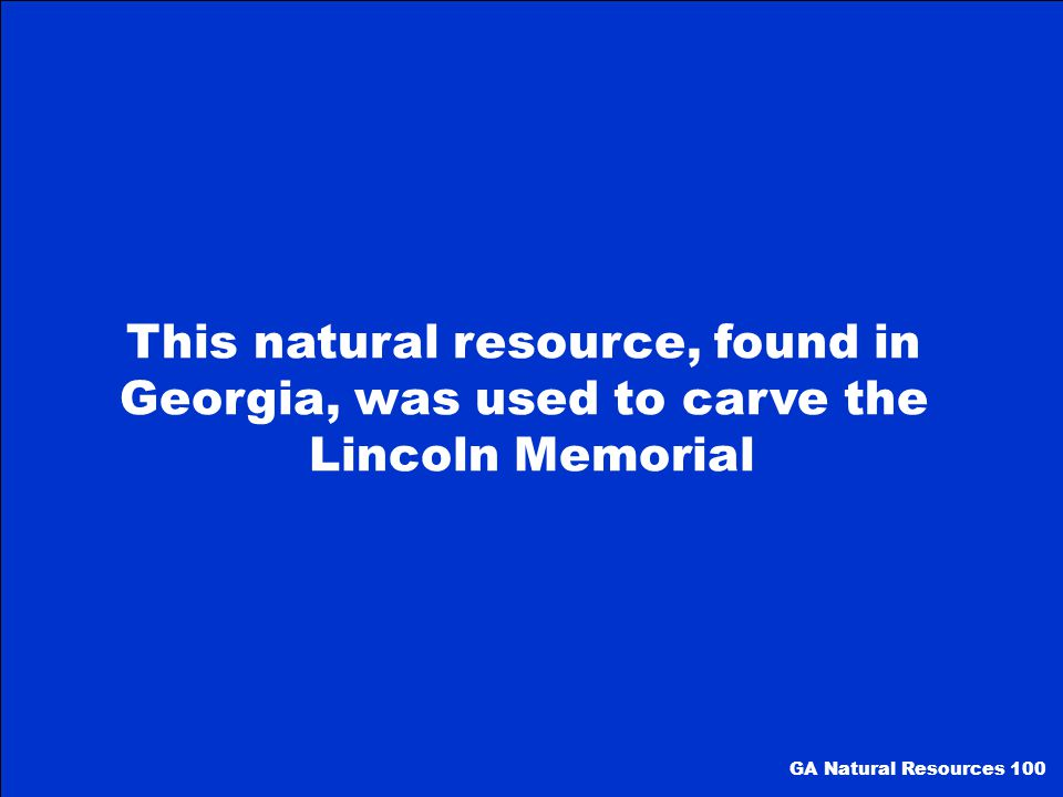 This natural resource, found in Georgia, was used to carve the