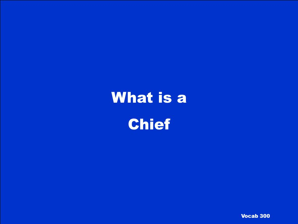 What is a Chief Vocab 300