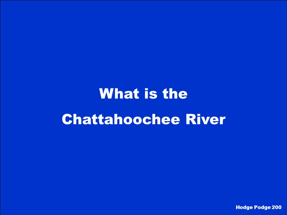 What is the Chattahoochee River Hodge Podge 200
