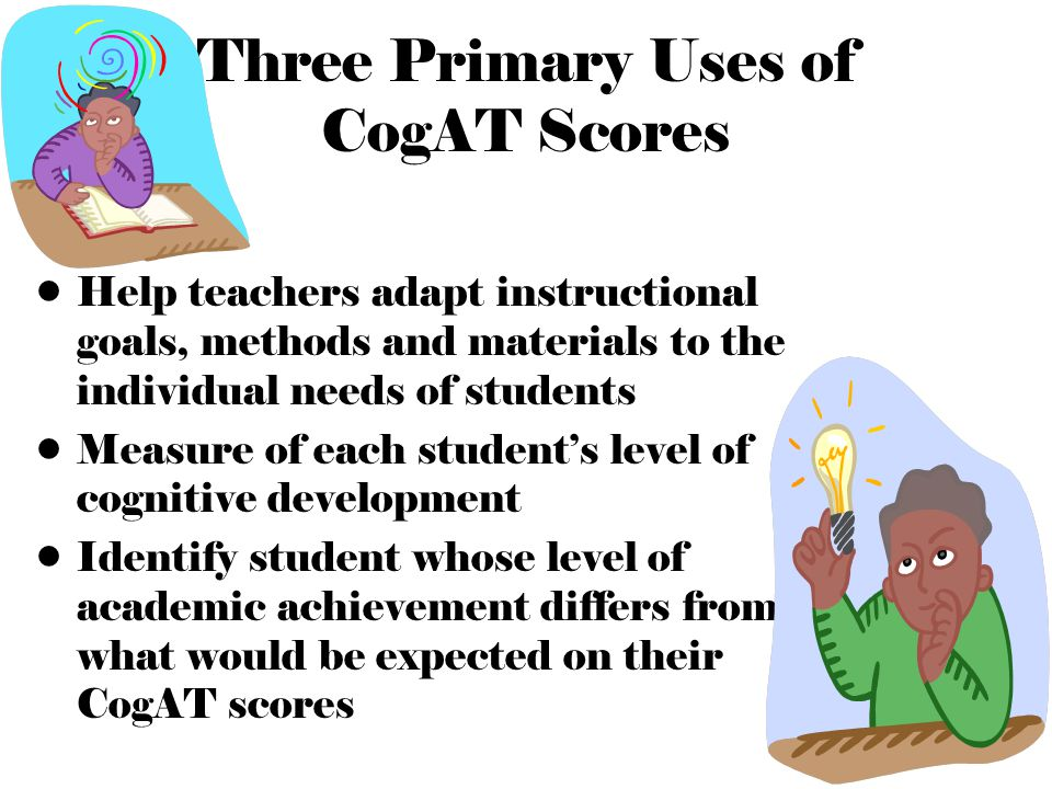 Three Primary Uses of CogAT Scores