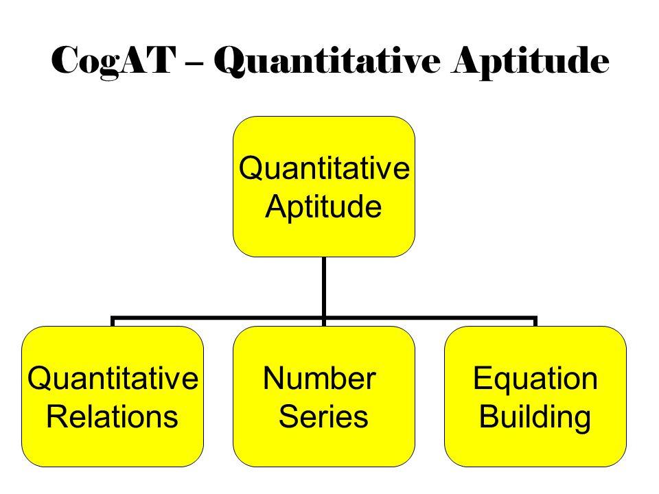 CogAT – Quantitative Aptitude