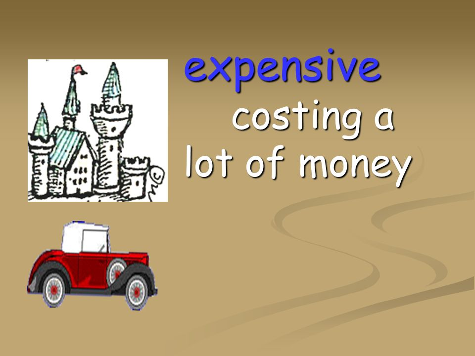 expensive costing a lot of money