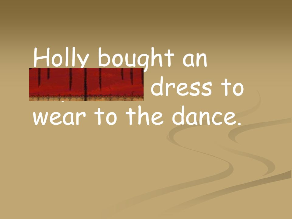 Holly bought an expensive dress to wear to the dance.