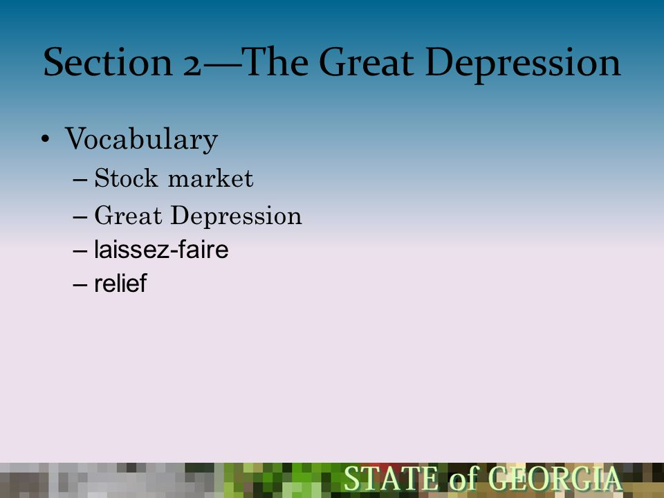 Section 2—The Great Depression