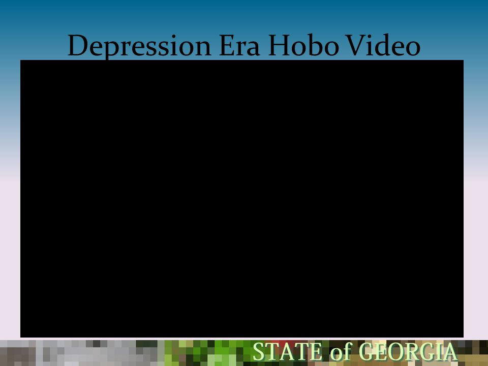 Depression Era Hobo Video