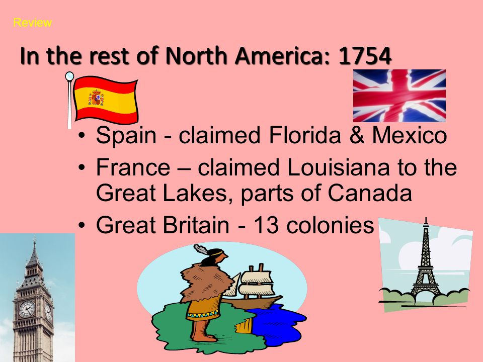 In the rest of North America: 1754