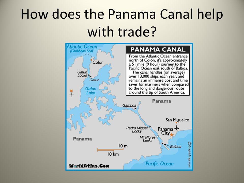 How does the Panama Canal help with trade