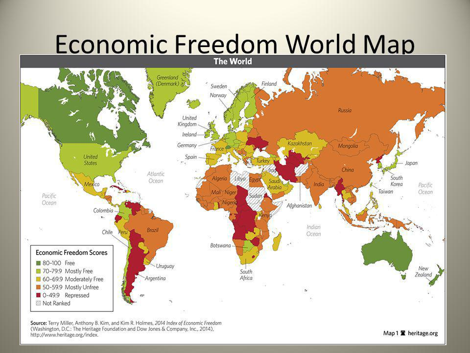Economic Freedom World Map