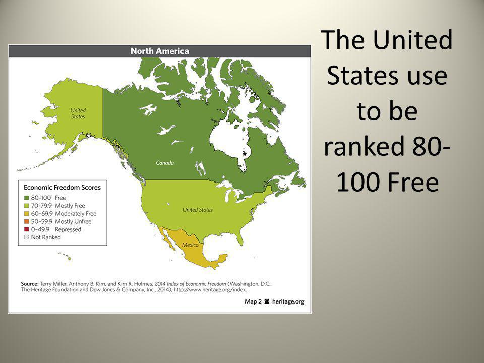 The United States use to be ranked 80-100 Free