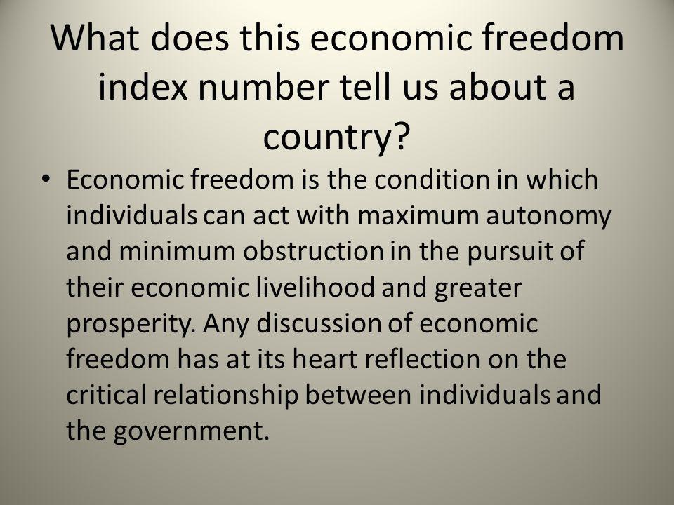 What does this economic freedom index number tell us about a country