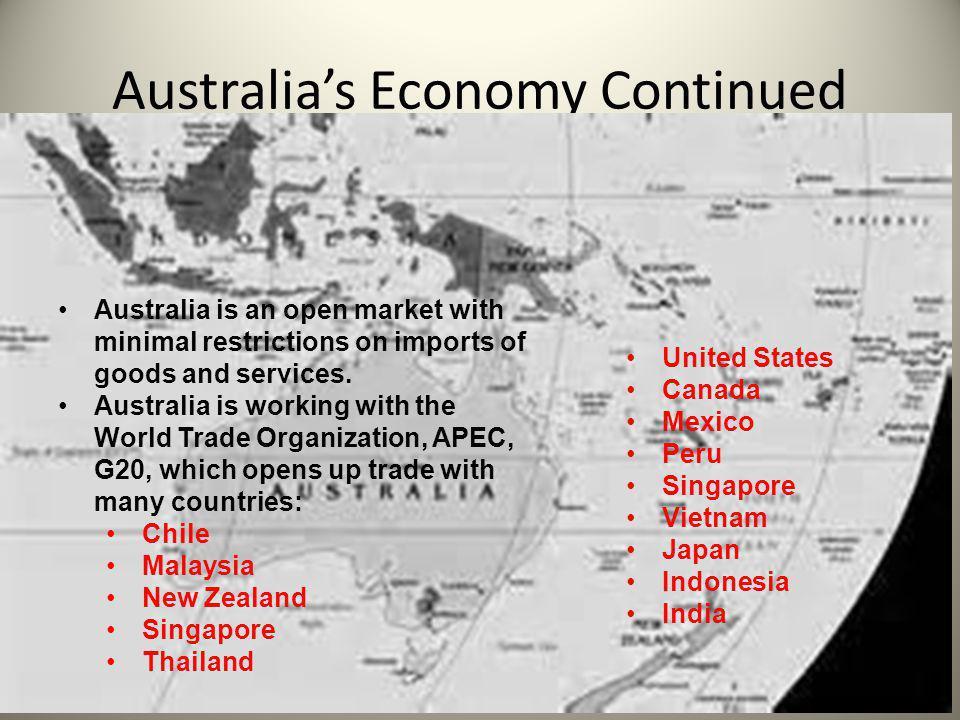Australia's Economy Continued