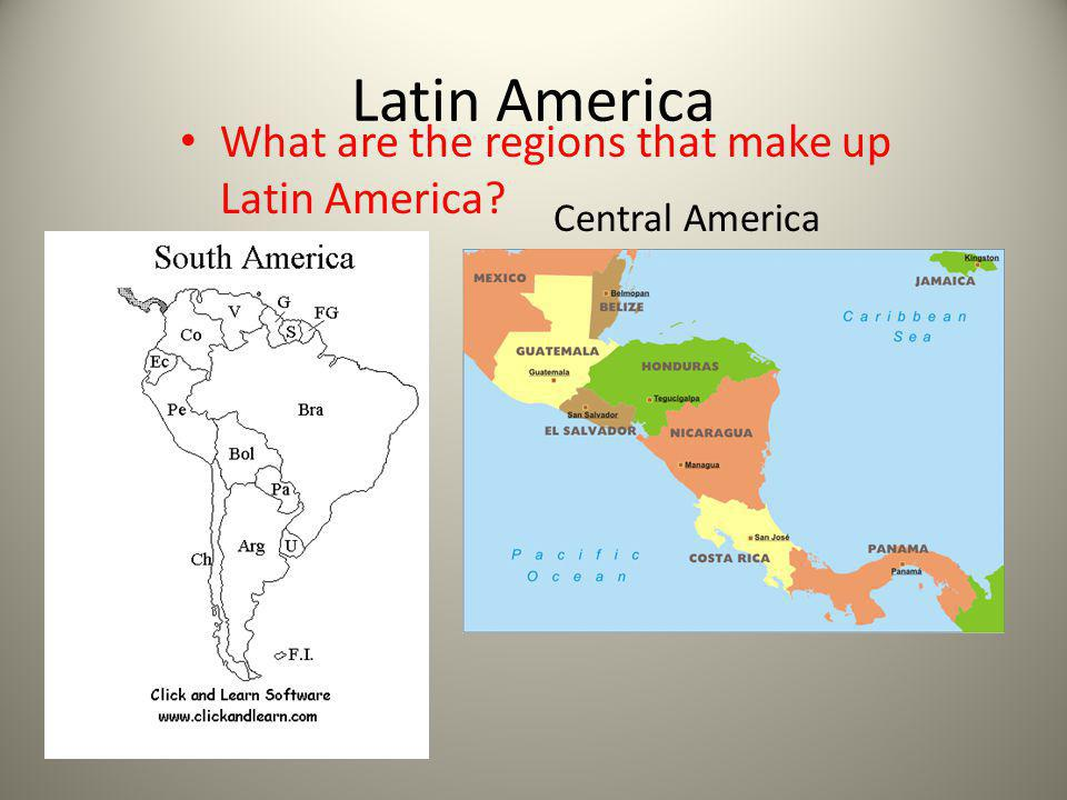 What are the regions that make up Latin America