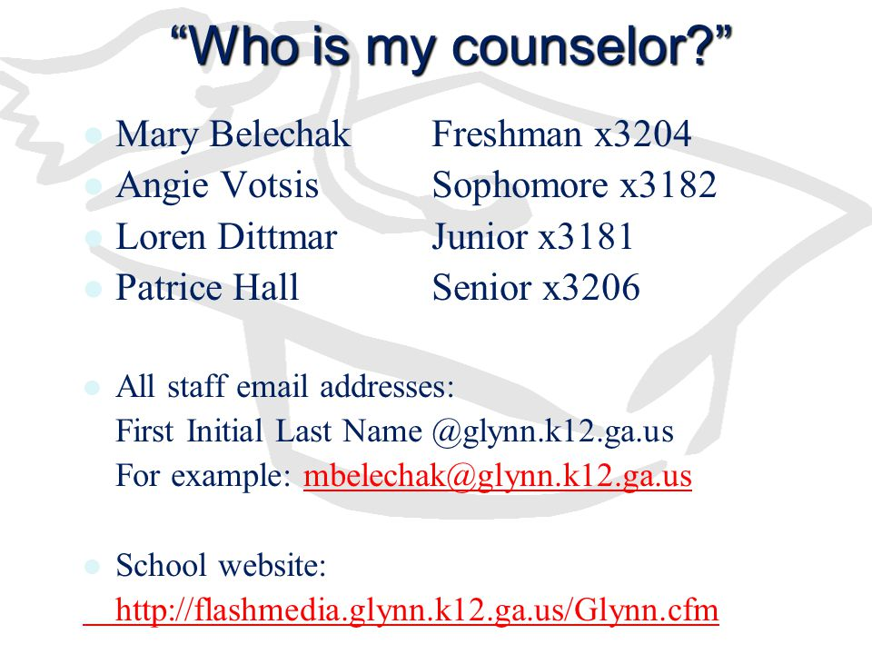 Who is my counselor Mary Belechak Freshman x3204