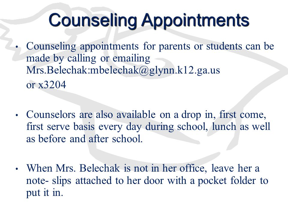 Counseling Appointments
