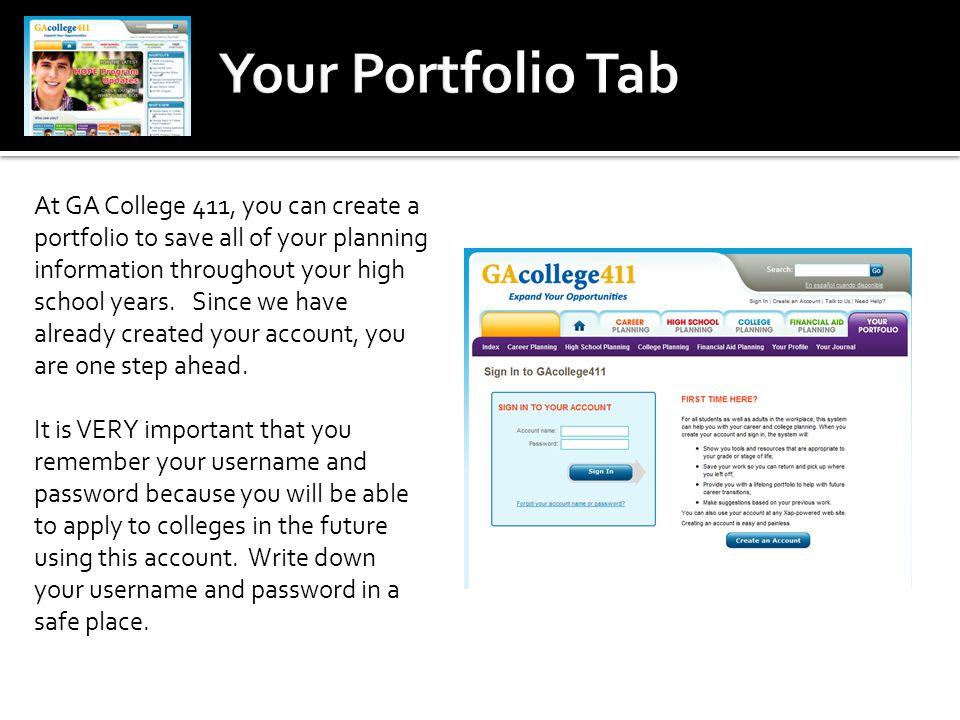 Your Portfolio Tab