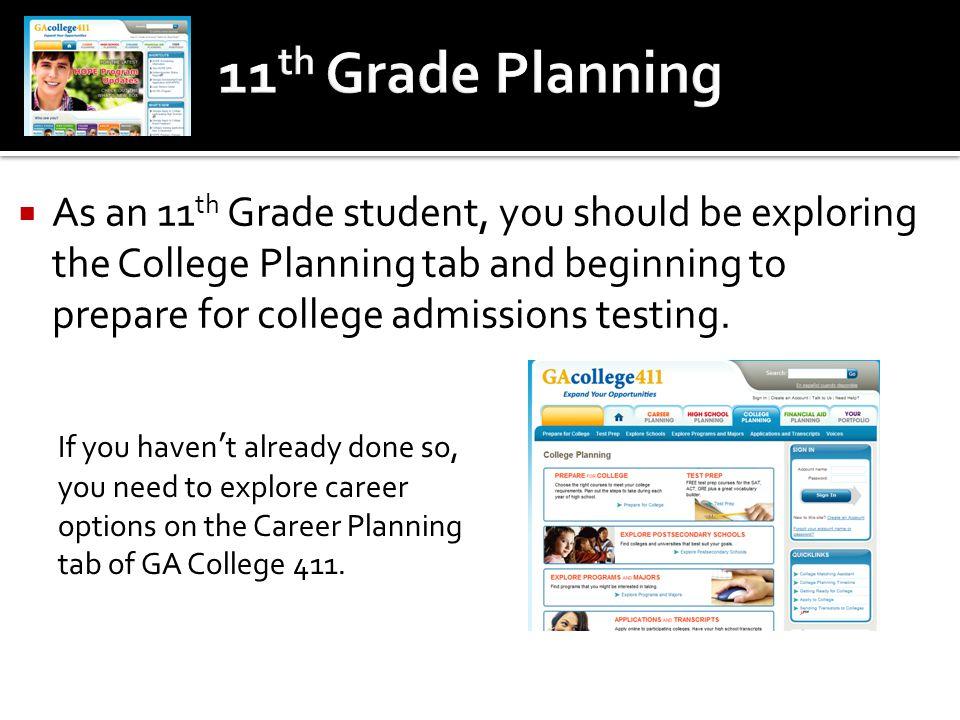 11th Grade Planning
