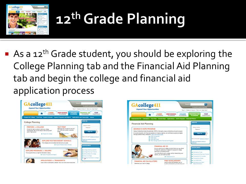 12th Grade Planning