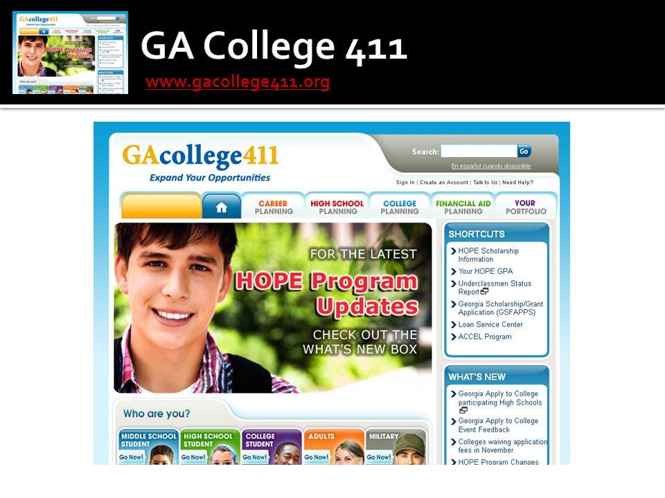 GA College 411 www.gacollege411.org