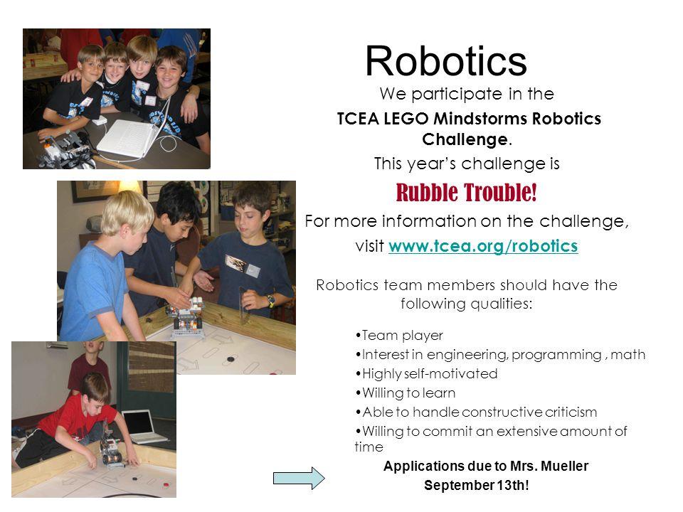Robotics Rubble Trouble! We participate in the