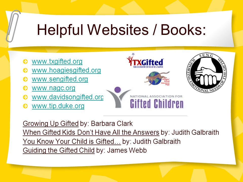Helpful Websites / Books: