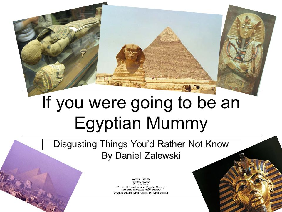 If you were going to be an Egyptian Mummy