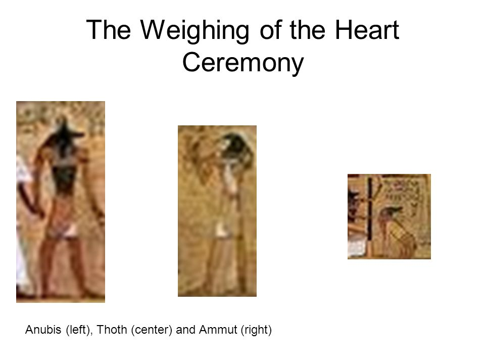 The Weighing of the Heart Ceremony