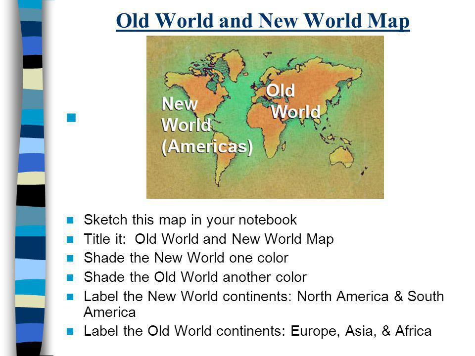 Old World and New World Map